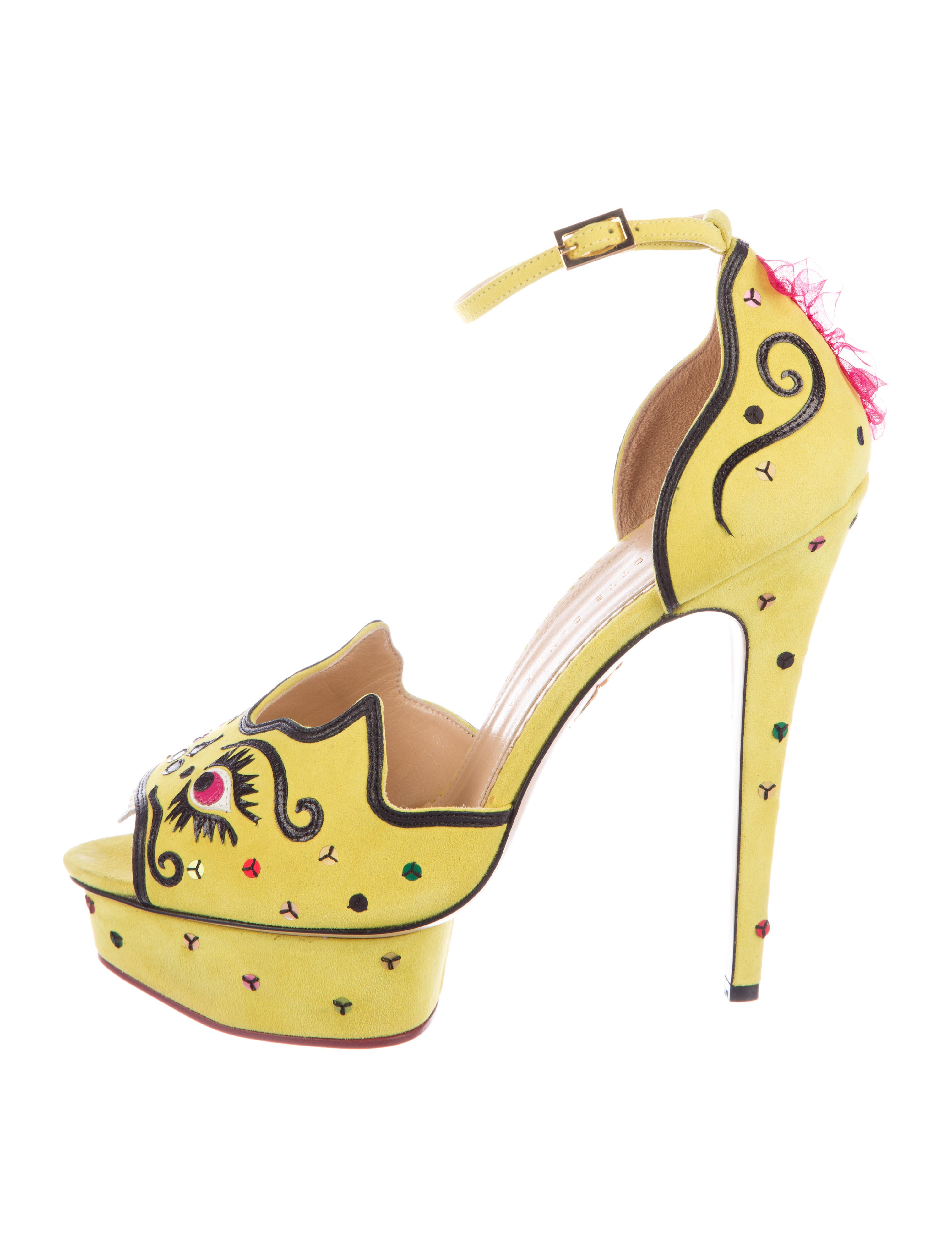 comfortable for sale discount free shipping Charlotte Olympia Martia Dragon Suede Pumps cheap sale genuine free shipping popular FqLl0loxcq