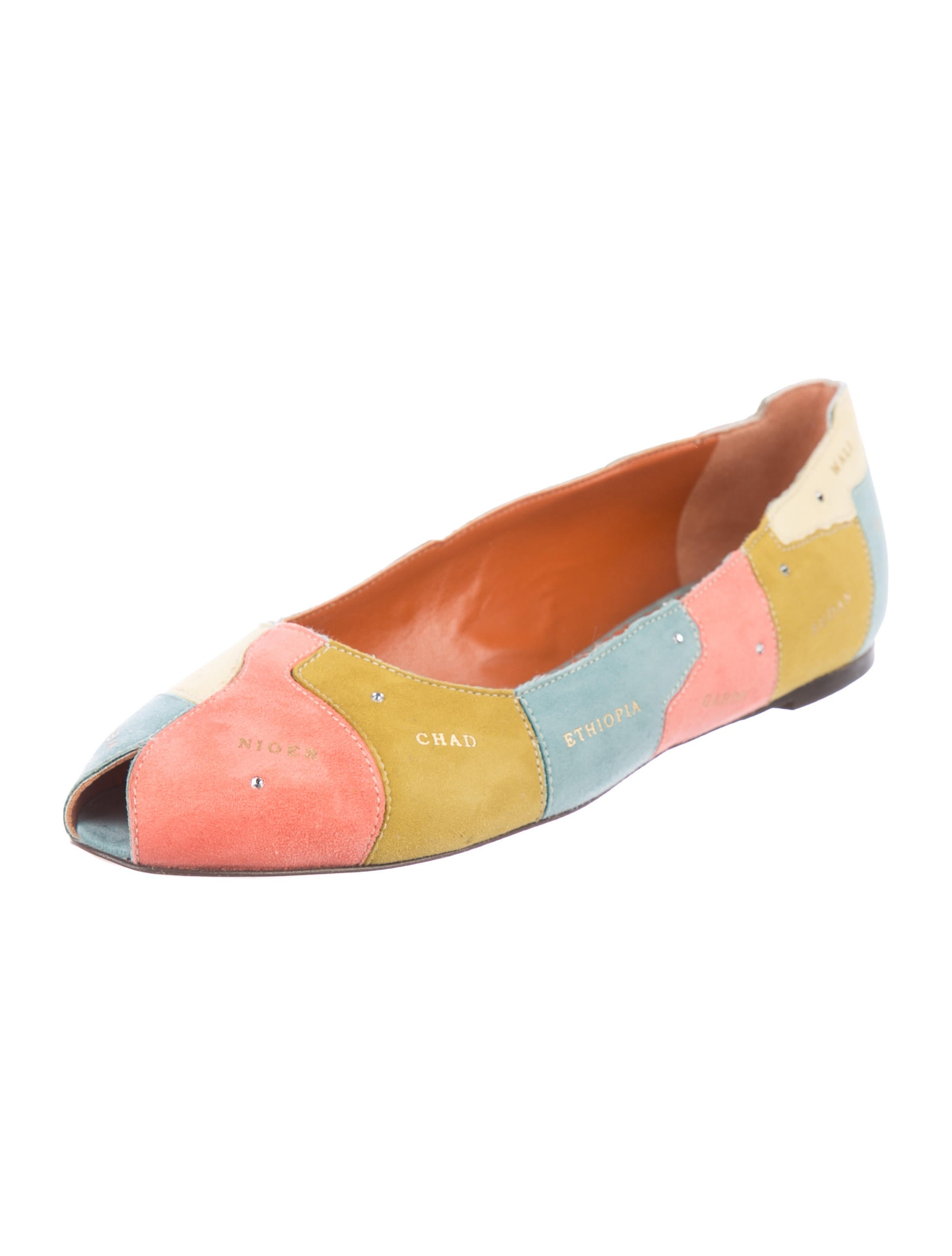 discount many kinds of Charlotte Olympia Well Travelled Peep-Toe Flats w/ Tags discount hot sale sale the cheapest 3TvFMCj