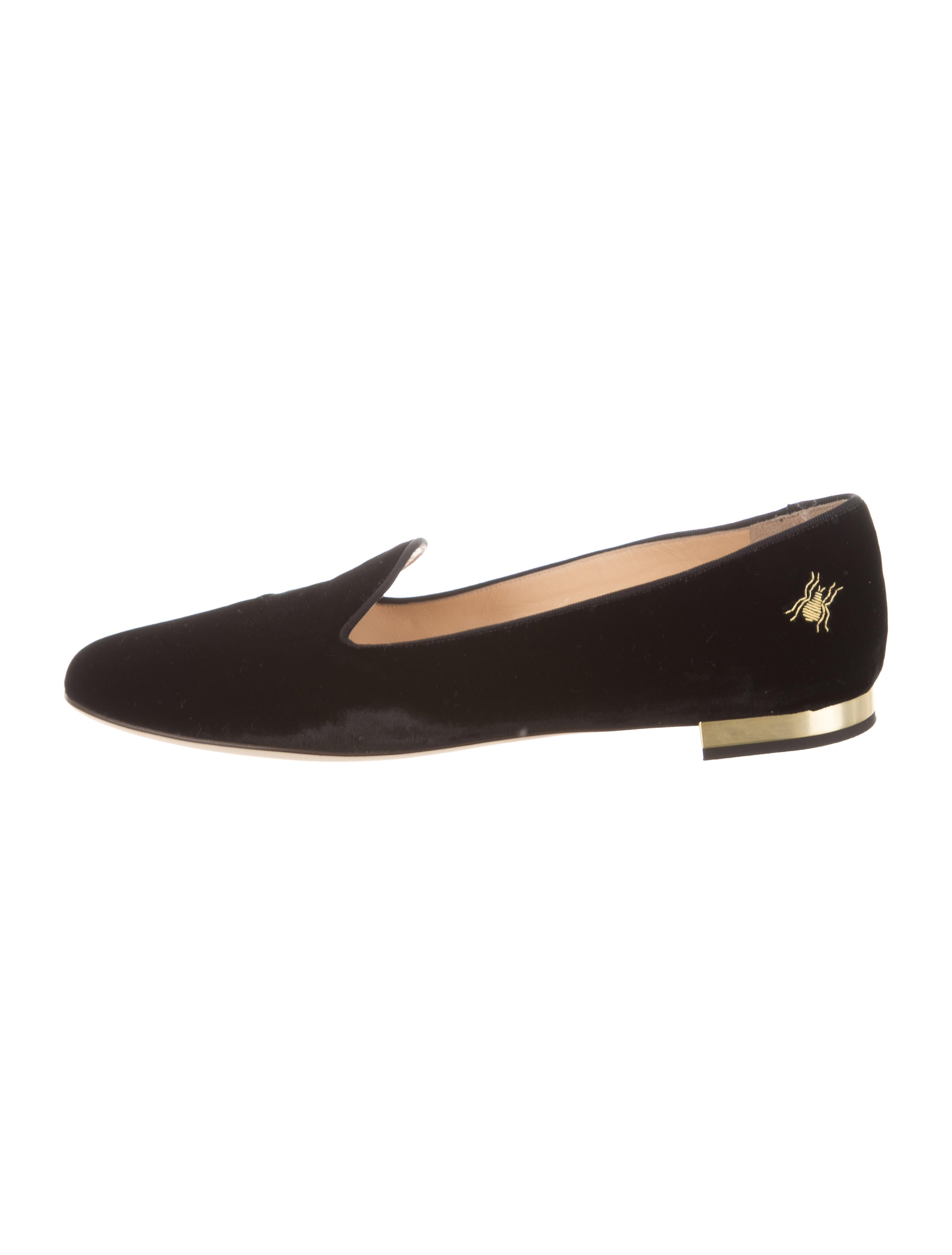 discount sast shop offer for sale Charlotte Olympia Velvet Round-Toe Loafers w/ Tags low cost sale online wxEhc7lYl