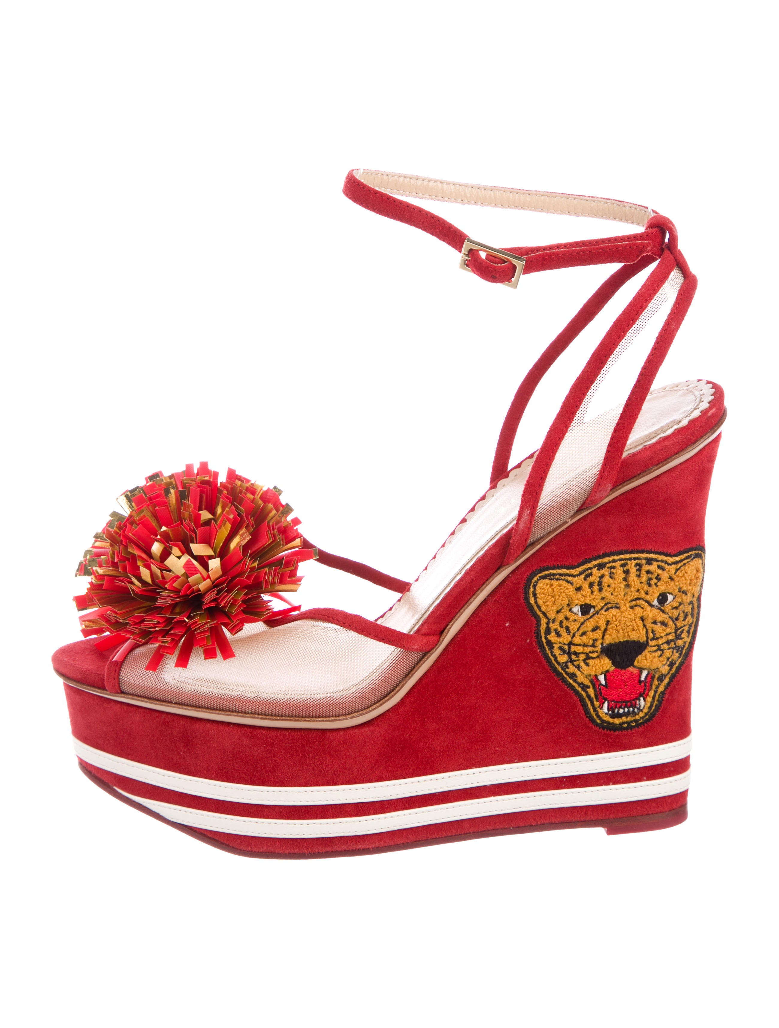 Charlotte Olympia Team Spirit Platform Wedges discount websites cheap sale pictures best place outlet brand new unisex the cheapest cheap price MHVHNN8