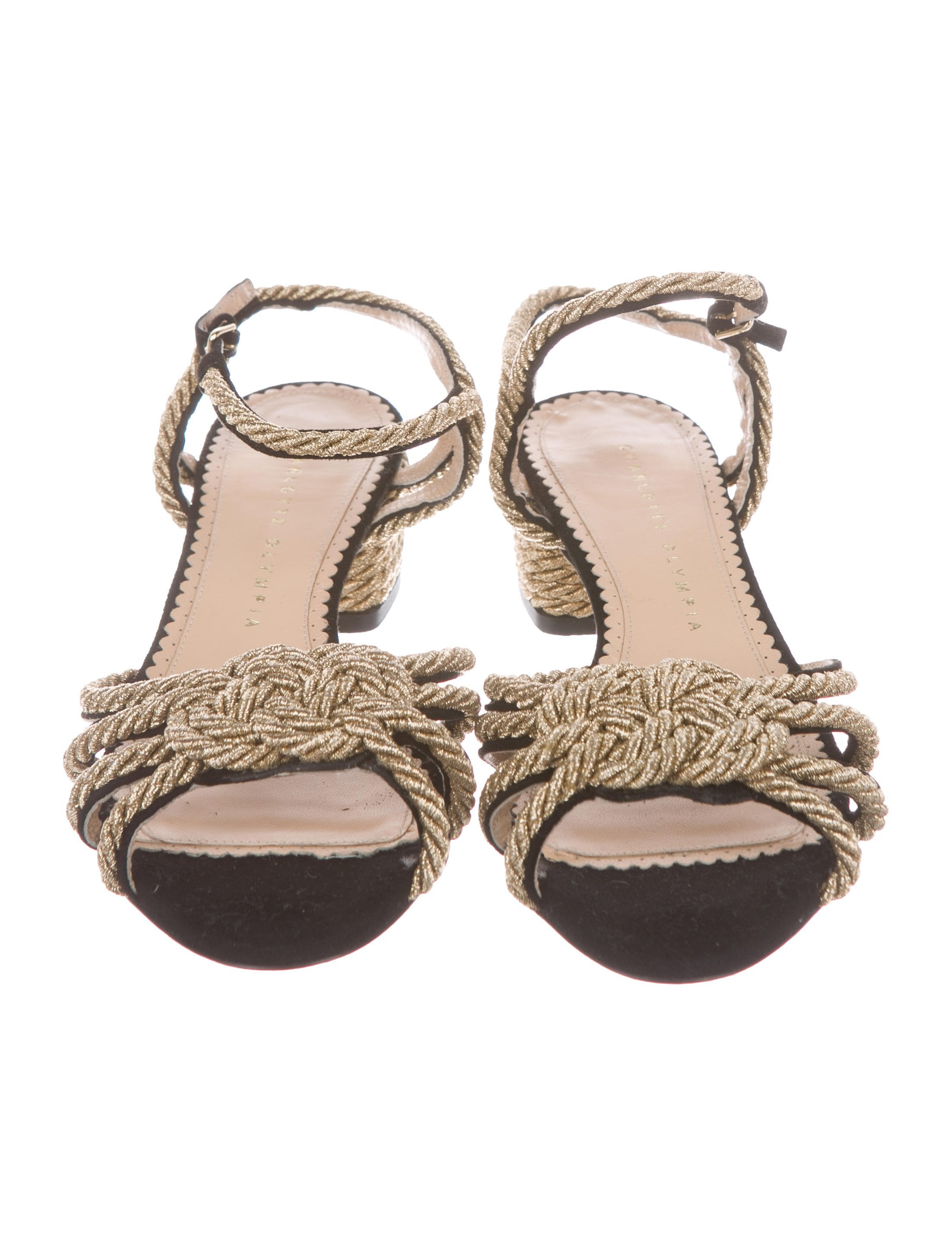 Charlotte Olympia It's Knot You, It's Me Rope-Accented Sandals