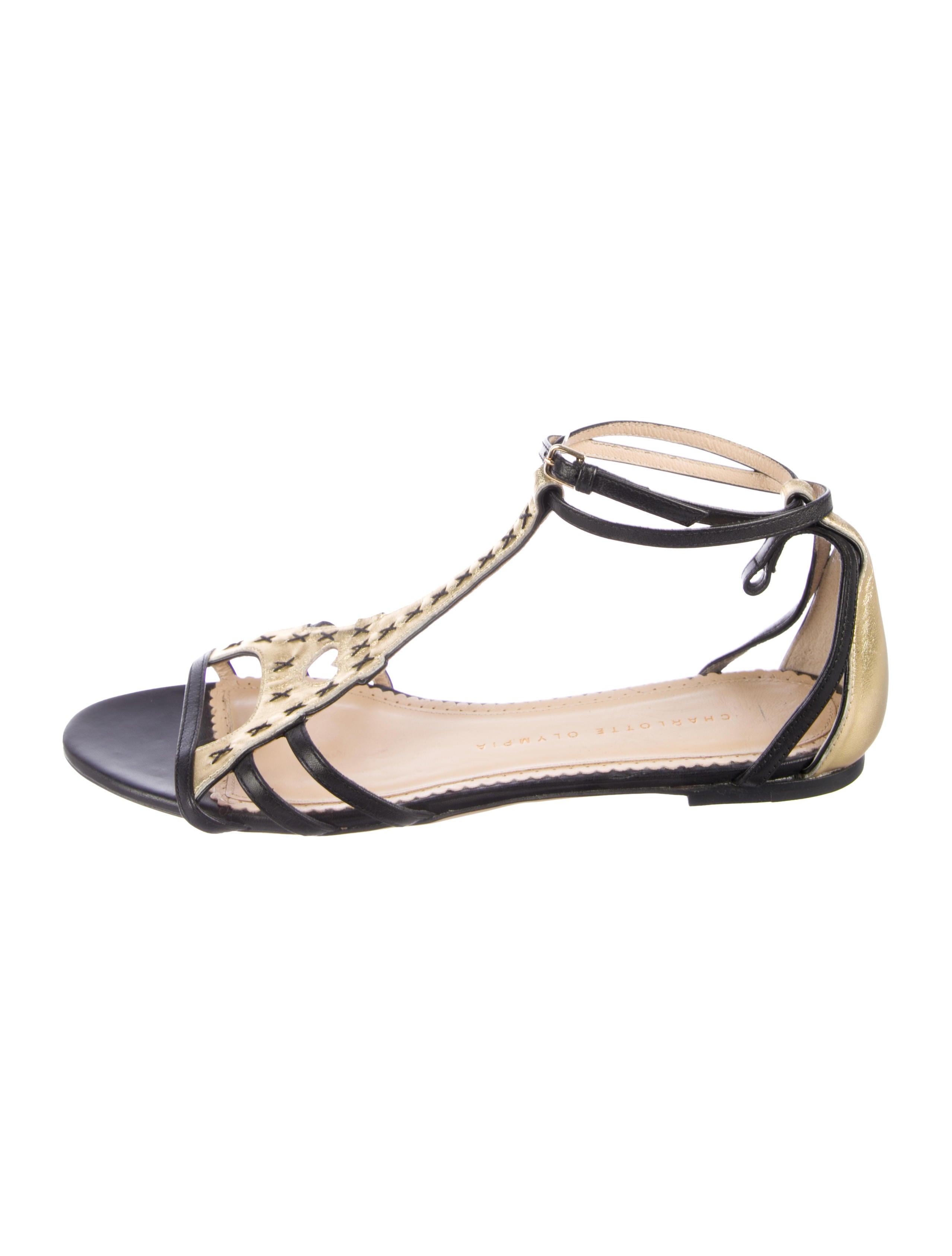 3b37befeda1 Eiffel Tower Leather Sandals