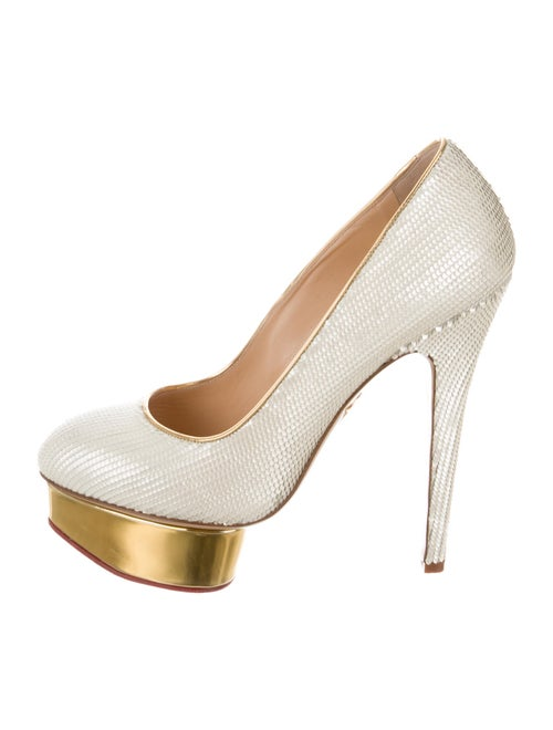 Charlotte Olympia Dolly Platform Pumps Yellow