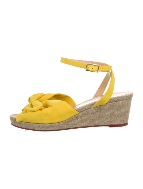 Charlotte Olympia Platform Bow Wedges Yellow