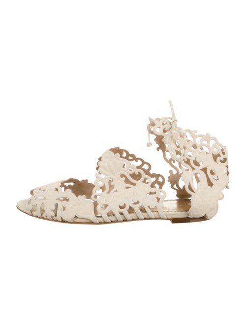 Charlotte Olympia Suede Lace-Up Sandals