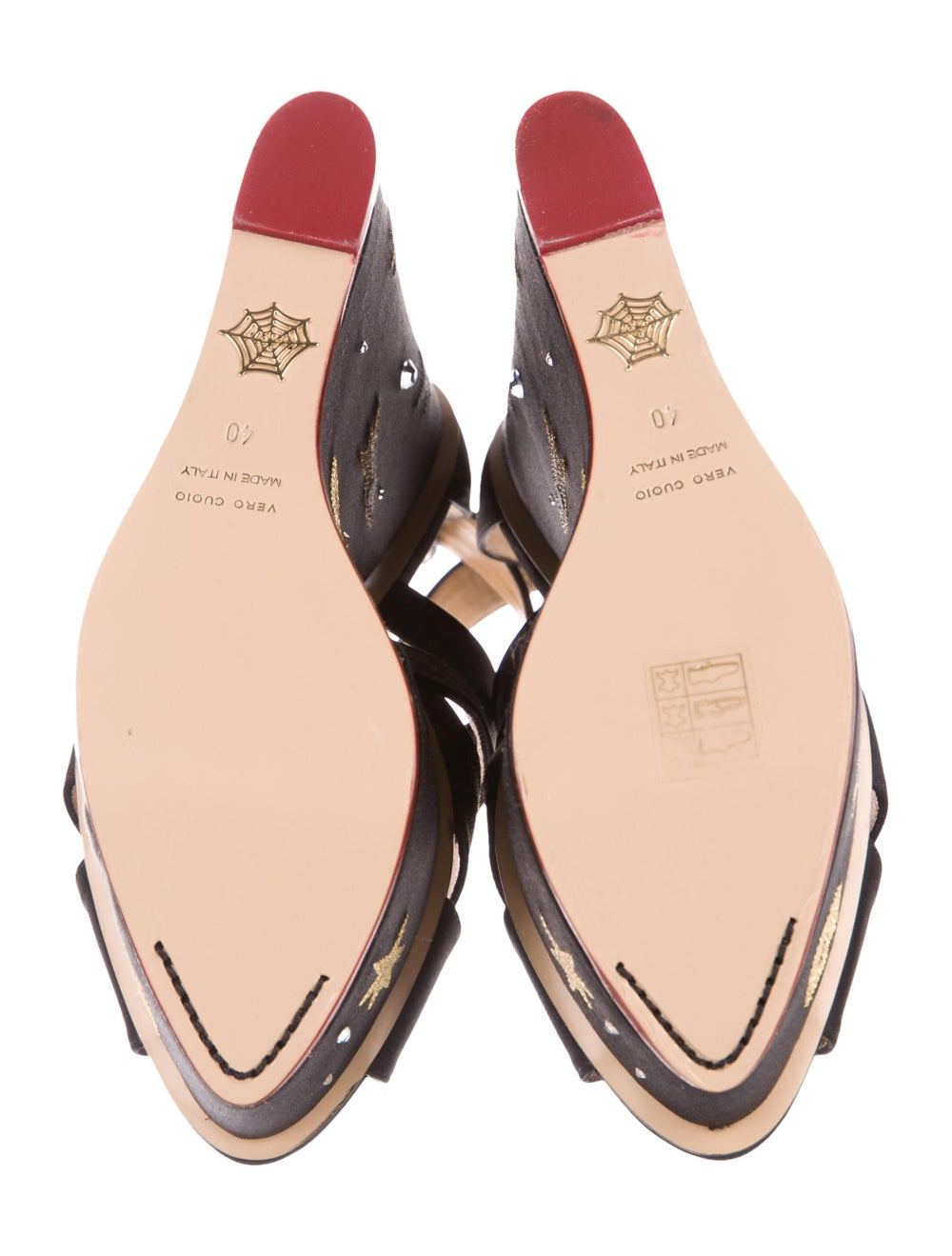 Charlotte Olympia Space Age Satin Wedges Black - image 5