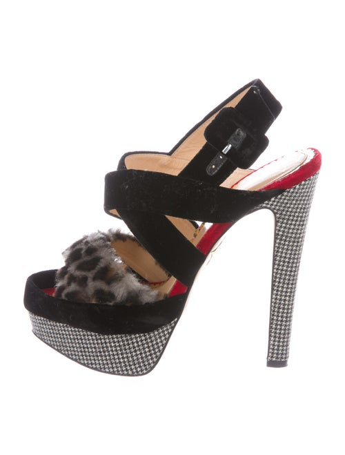 Charlotte Olympia Femme Fatale Houndstooth Print S