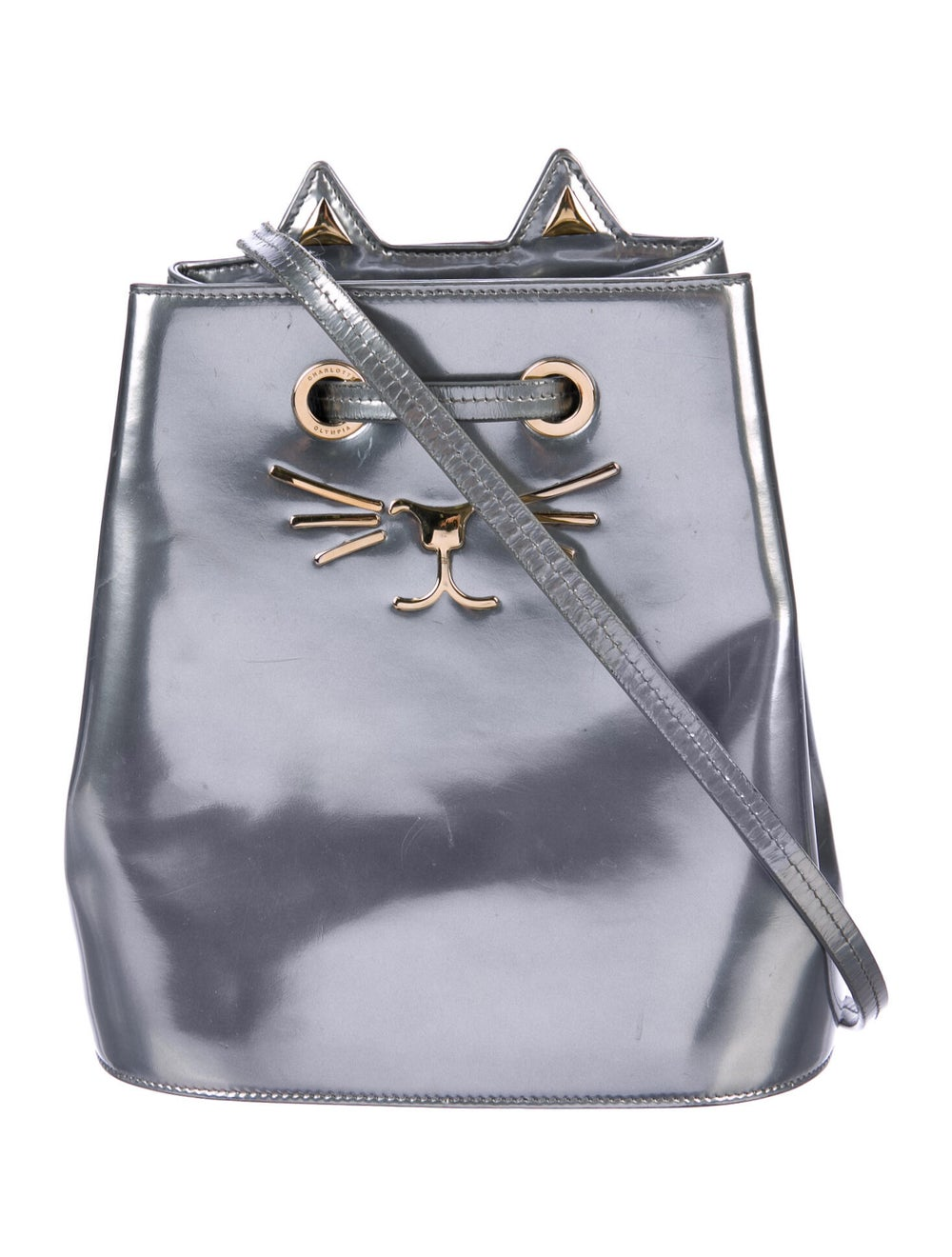 Charlotte Olympia Patent Leather Cat Bucket Bag S… - image 1