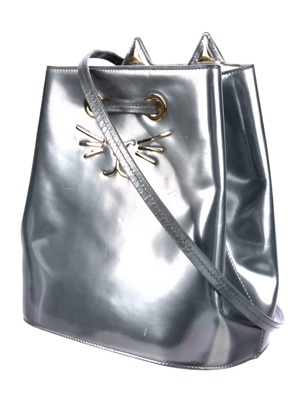 Charlotte Olympia Patent Leather Cat Bucket Bag S… - image 3