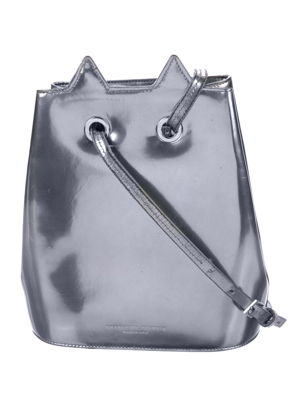 Charlotte Olympia Patent Leather Cat Bucket Bag S… - image 4