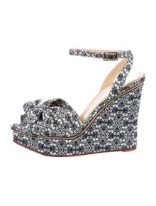 Charlotte Olympia Printed Bow Accents Sandals