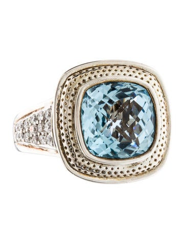 Charles Krypell Topaz & Diamond Ring