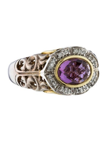 Charles Krypell Amethyst & Diamond Ring