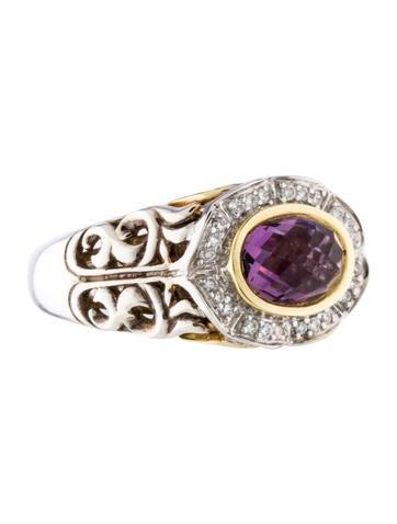 Charles Krypell Amethyst & Diamond Ring