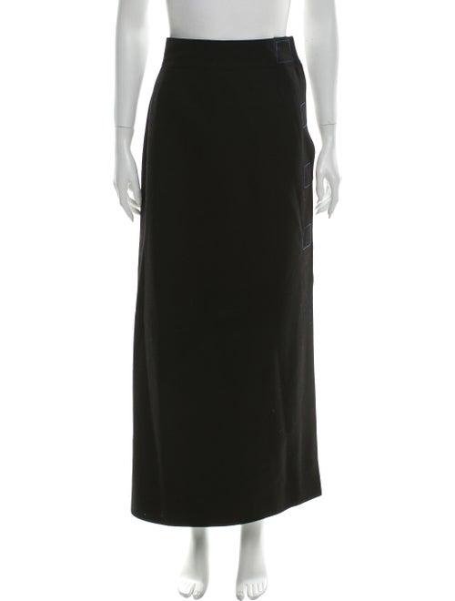Claude Montana Vintage Long Skirt Black
