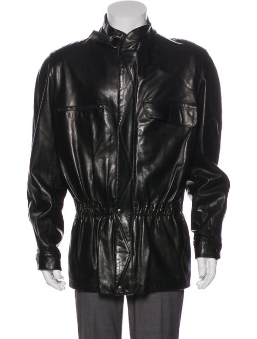 Claude Montana Lamb Leather Moto Jacket Black