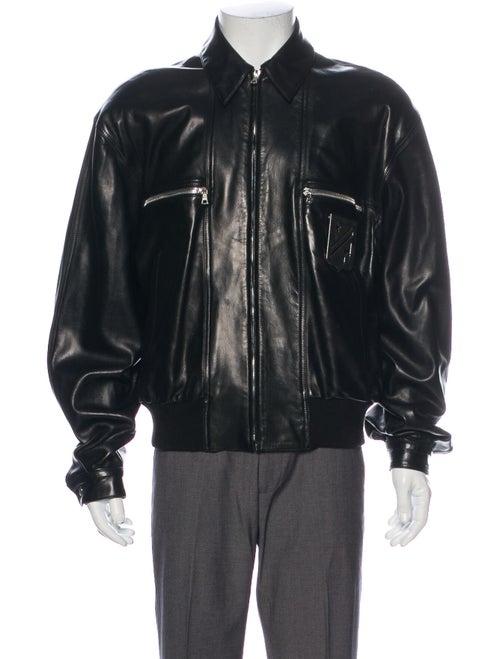 Claude Montana Lamb Leather Jacket Black
