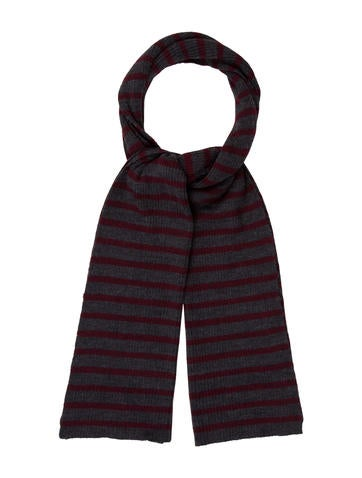 Clements Ribeiro Striped Rib Knit Scarf None