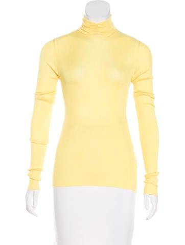 Calvin Klein 205W39NYC Silk Turtleneck Sweater w/ Tags None