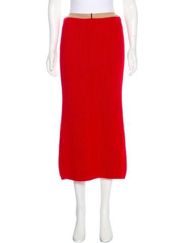 Calvin Klein 205W39NYC Wool Midi Skirt None
