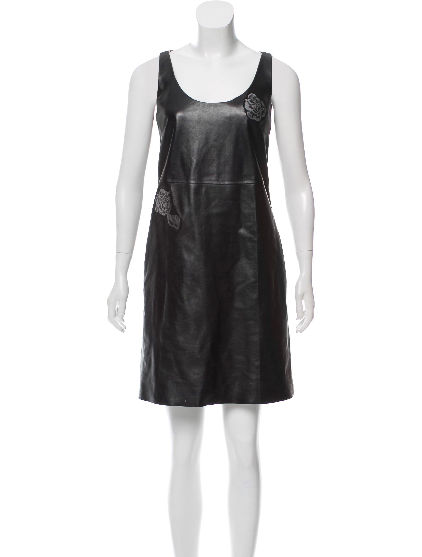 Calvin Klein 205W39NYC 2017 Leather Dress w/ Tags Discount Fashion Style 9X5sW