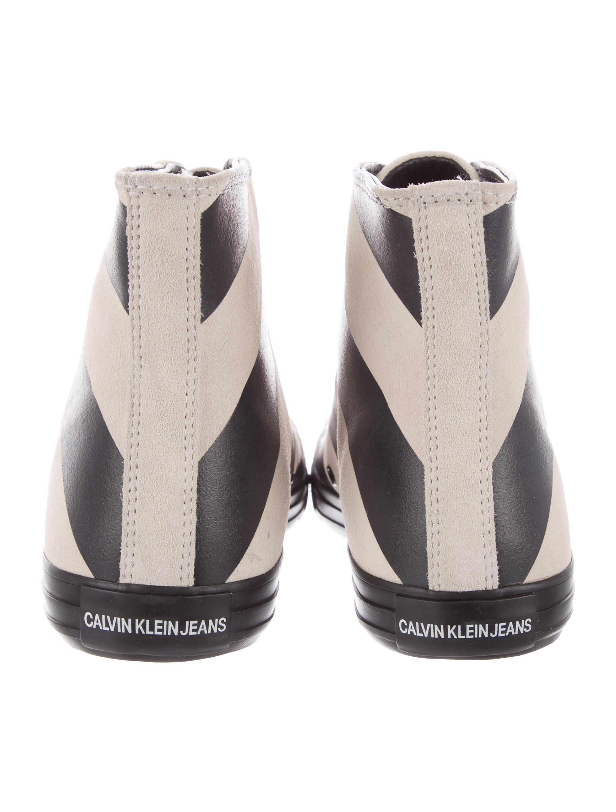 Calvin Klein 205W39NYC Striped Leather