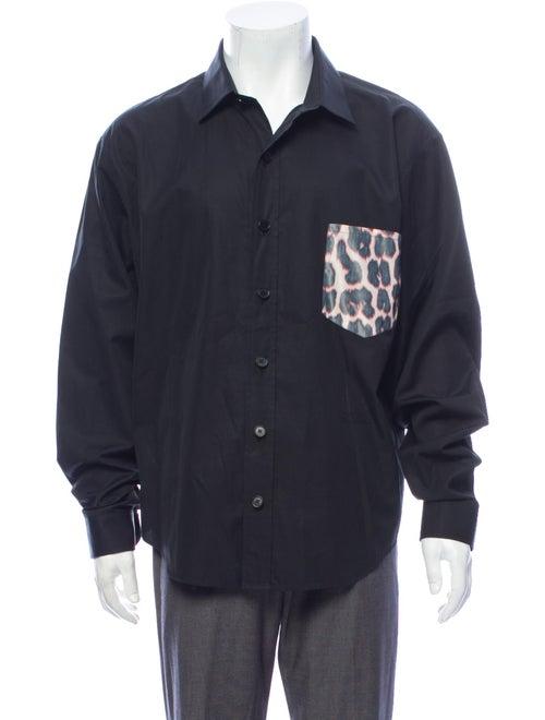 Calvin Klein 205W39Nyc Patchwork Button-Up Shirt b