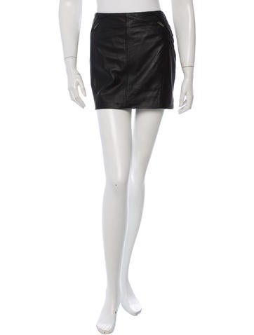 Comptoir Des Cotonniers Leather Mini Skirt w/ Tags
