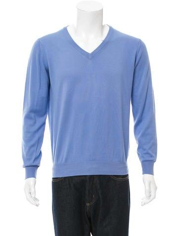 Canali Pullover V-Neck Sweater None
