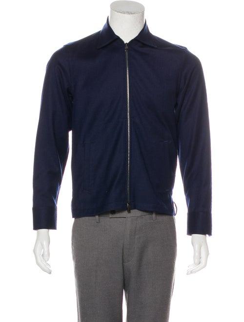 Canali Wool Shirt Jacket navy