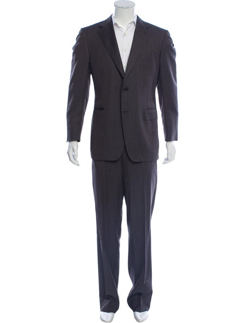 Canali Wool Two-Piece Suit brown