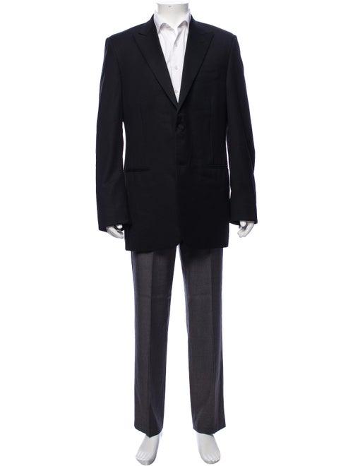 Canali Wool Tuxedo Jacket black