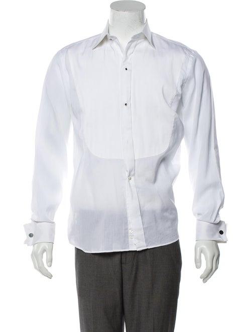 Canali French Cuff Woven Shirt white
