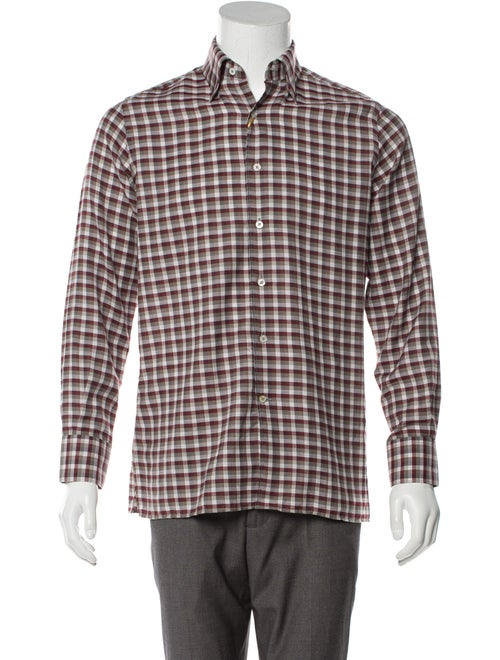 Canali Cashmere-Blend Button-Up Shirt w/ Tags grey