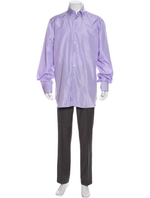 Canali Long Sleeve Dress Shirt Purple