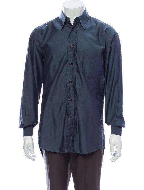 Canali Long Sleeve Shirt Blue