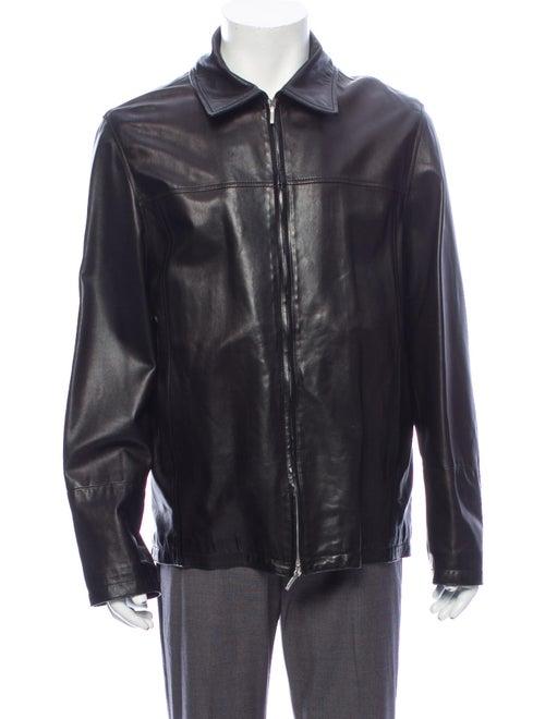 Canali Moto Jacket Black