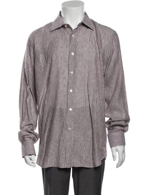 Canali Linen Striped Shirt