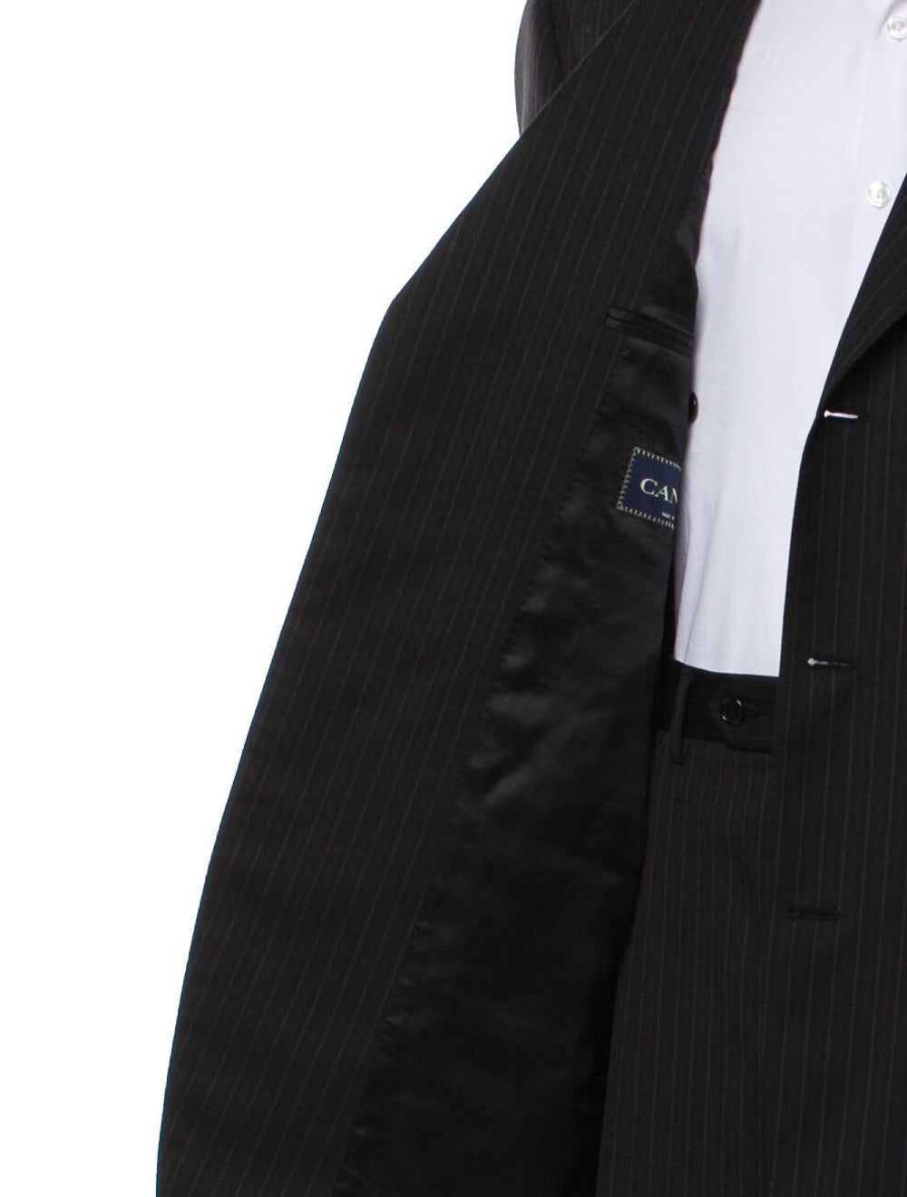 Canali Wool Striped Two-Piece Blazer Wool - image 5