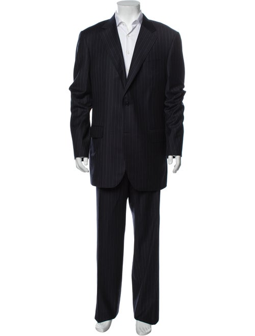 Canali Wool Striped Two-Piece Suit Wool