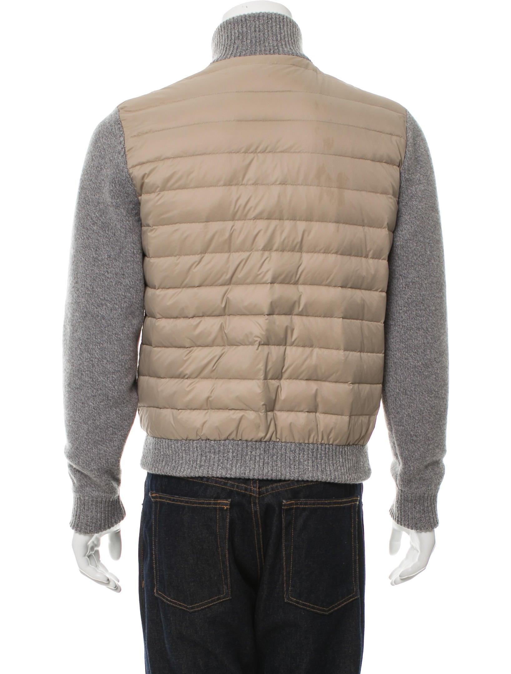 Corneliani Quilted Wool Paneled Jacket Clothing