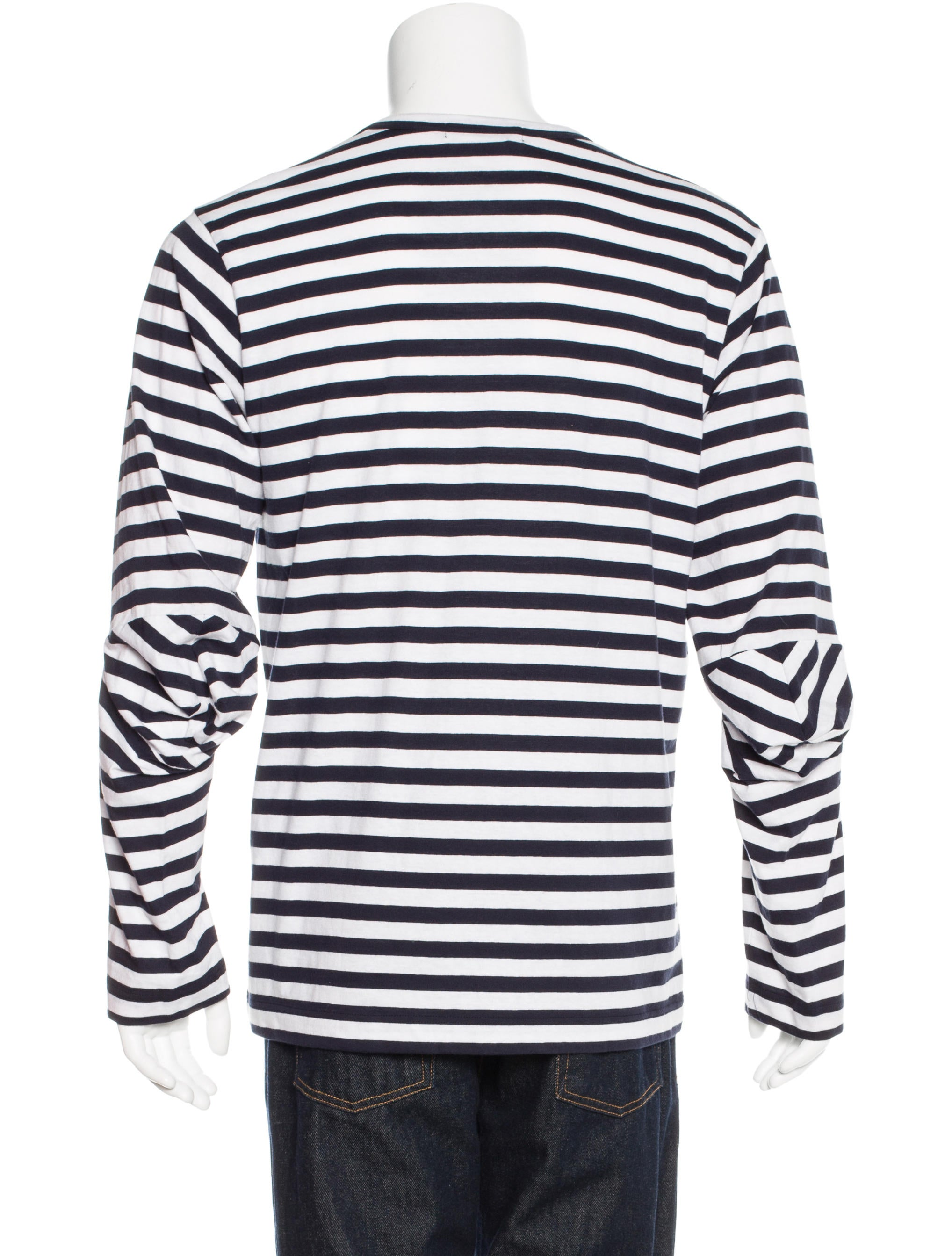 Comme des gar ons striped long sleeve t shirt clothing Striped long sleeve t shirt