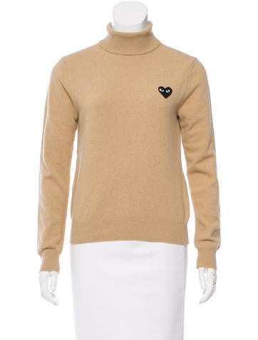 Comme des Garçons Turtleneck Long Sleeve Sweater None