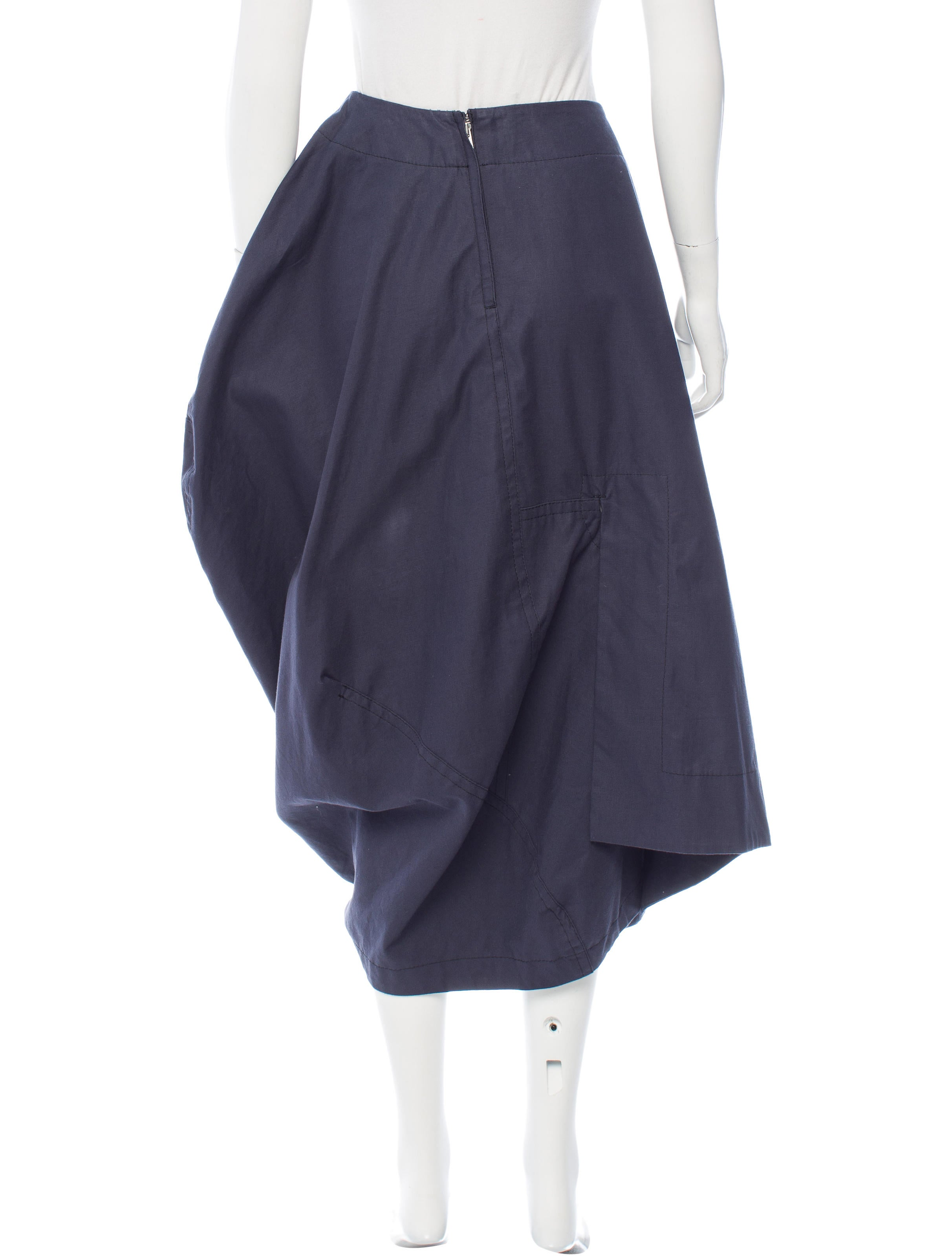 comme des gar 231 ons structured midi skirt clothing