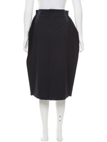 comme des gar 231 ons structured midi skirt w tags clothing