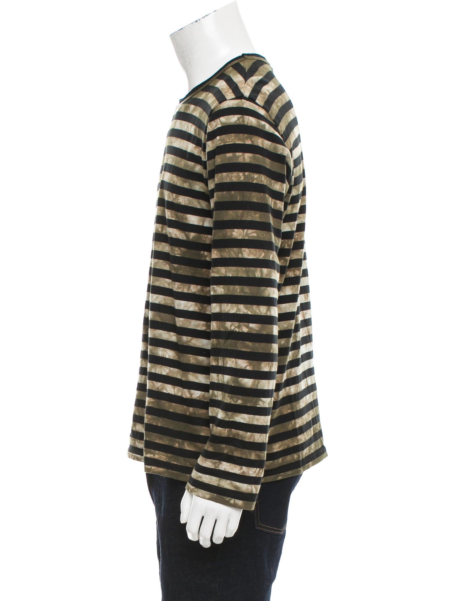 Comme des gar ons striped tie dye shirt clothing for Striped tie with striped shirt