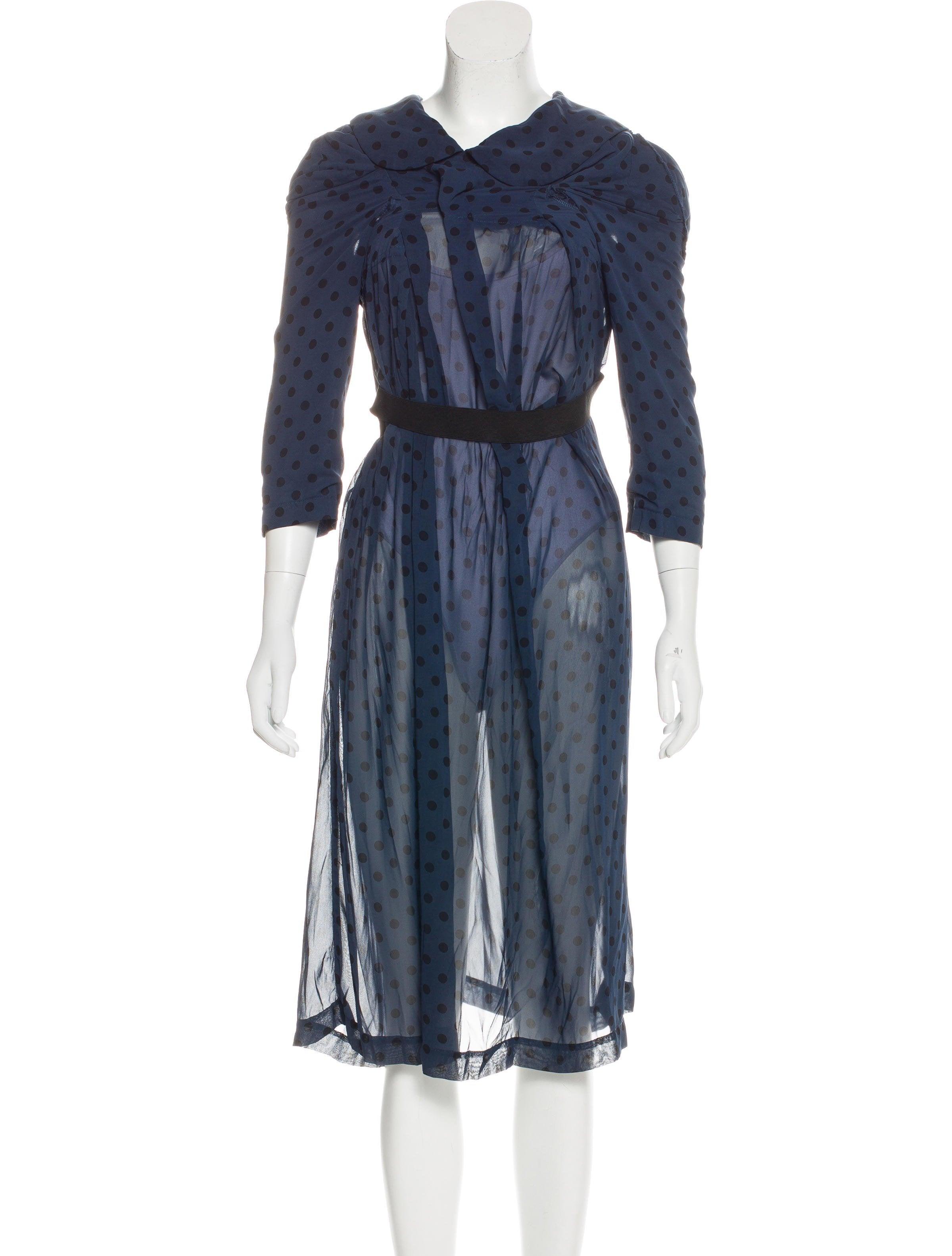 comme des gar ons deconstructed midi dress clothing com25916 the realreal. Black Bedroom Furniture Sets. Home Design Ideas