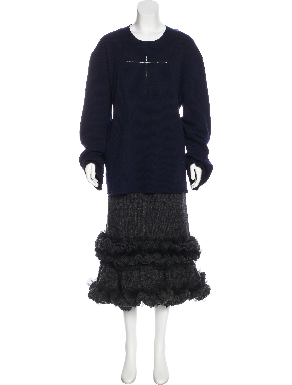 comme des gar ons wool maxi dress clothing com26484 the realreal. Black Bedroom Furniture Sets. Home Design Ideas