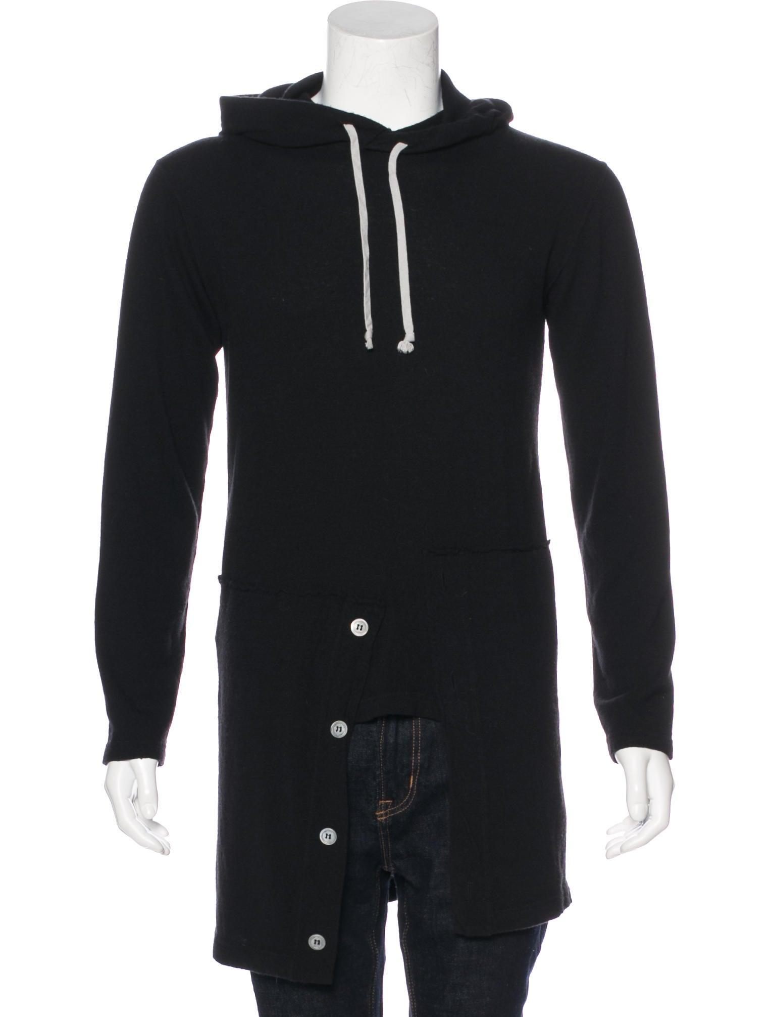 comme des gar ons homme plus wool paneled hoodie. Black Bedroom Furniture Sets. Home Design Ideas