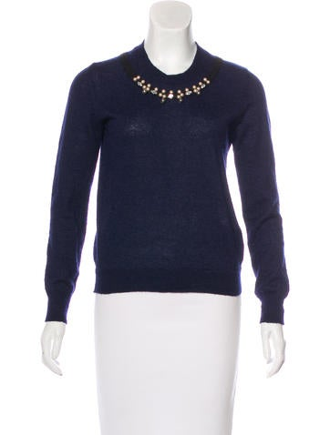 Comme des Garçons Embellished Mohair-Blend Sweater None